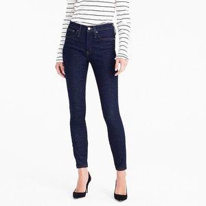 "J Crew SZ 27 Toothpick 9"" High Rise Skinny Jeans"